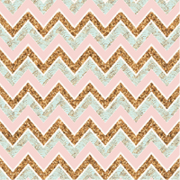 Pink Gold Blue Patterned Zig Zag