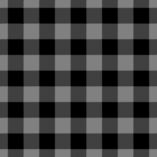 Grey Buffalo Plaid