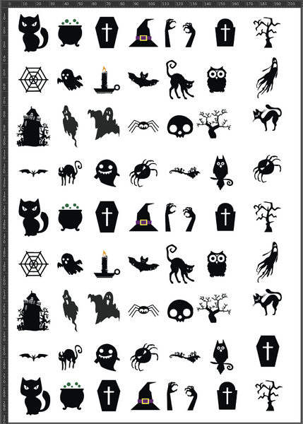 Silhouette Halloween A4 Sheet
