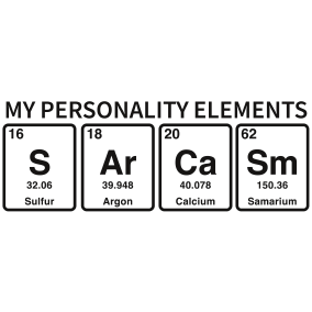 Personality Elements Heat Transfer Print