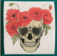 Skull With Poppies
