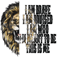 I am Brave Sublimation/Infusible Ink Sheet