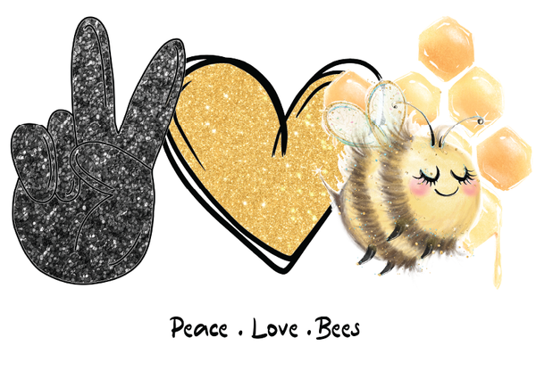 Peace Love Bees Sublimation/Infusible Ink Sheet