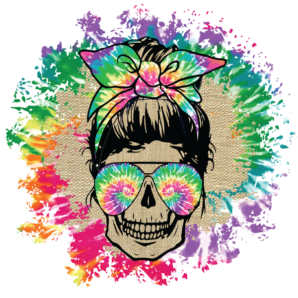 Tie Dye Skull Transfer/Waterslide