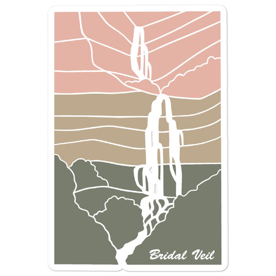 Bridal Veil II | Utah Sticker