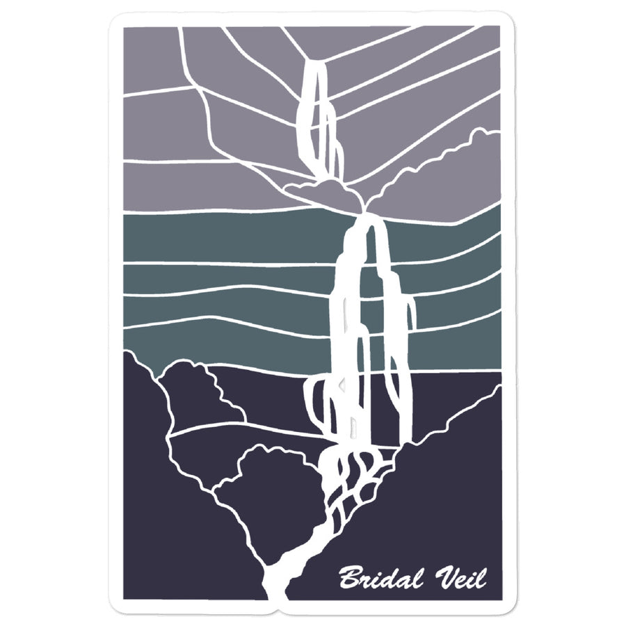 Bridal Veil V | Utah Sticker