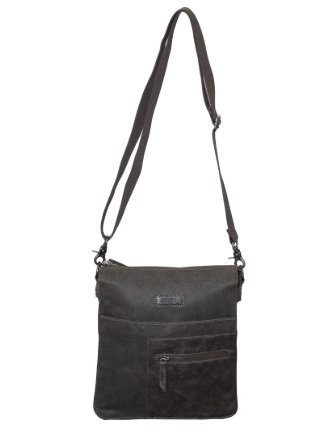 FIB Waxed Canvas Messenger Bag