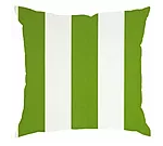 Cushion - Vertical Stripe Green and White