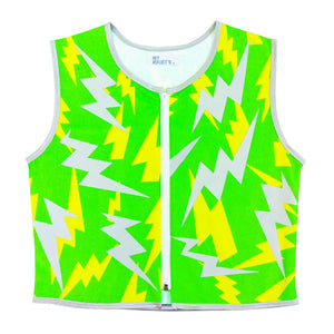 Green Lightning Reflective Bike Vest
