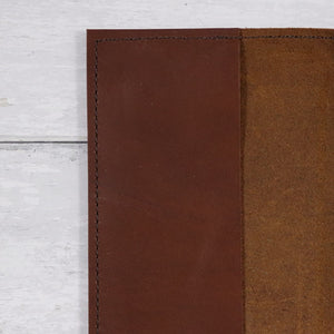 A5 Leather Book & Journal Cover - in Brown