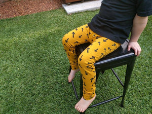 Australian Handmade Leggings (Mustard Arrows)