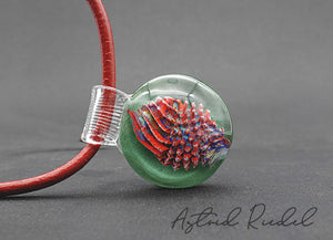 Coral - Glass Marble pendant