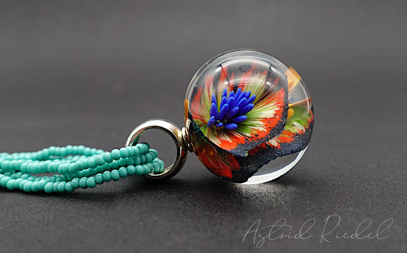 Wild Blooms - Glass Marble pendant