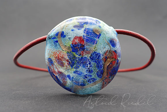 Blown disc, Abstract glass art  - by Astrid Riedel