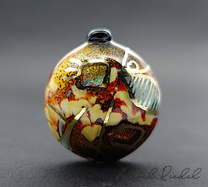 Gold art bead II Astrid Riedel glass art