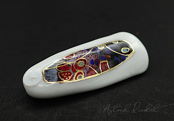 Gold art bead-Magic night_ Astrid Riedel glass art