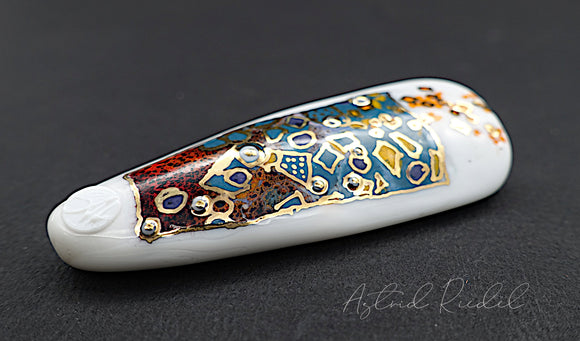 Gold art bead-Opulence-Astrid Riedel glass art