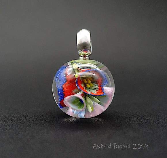 Marble pendant - A bunch of fresh flowers