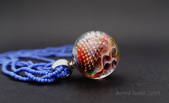 Marble pendant - Coral reef