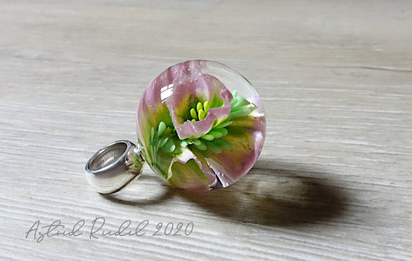Marble pendant -Pretty in Pink