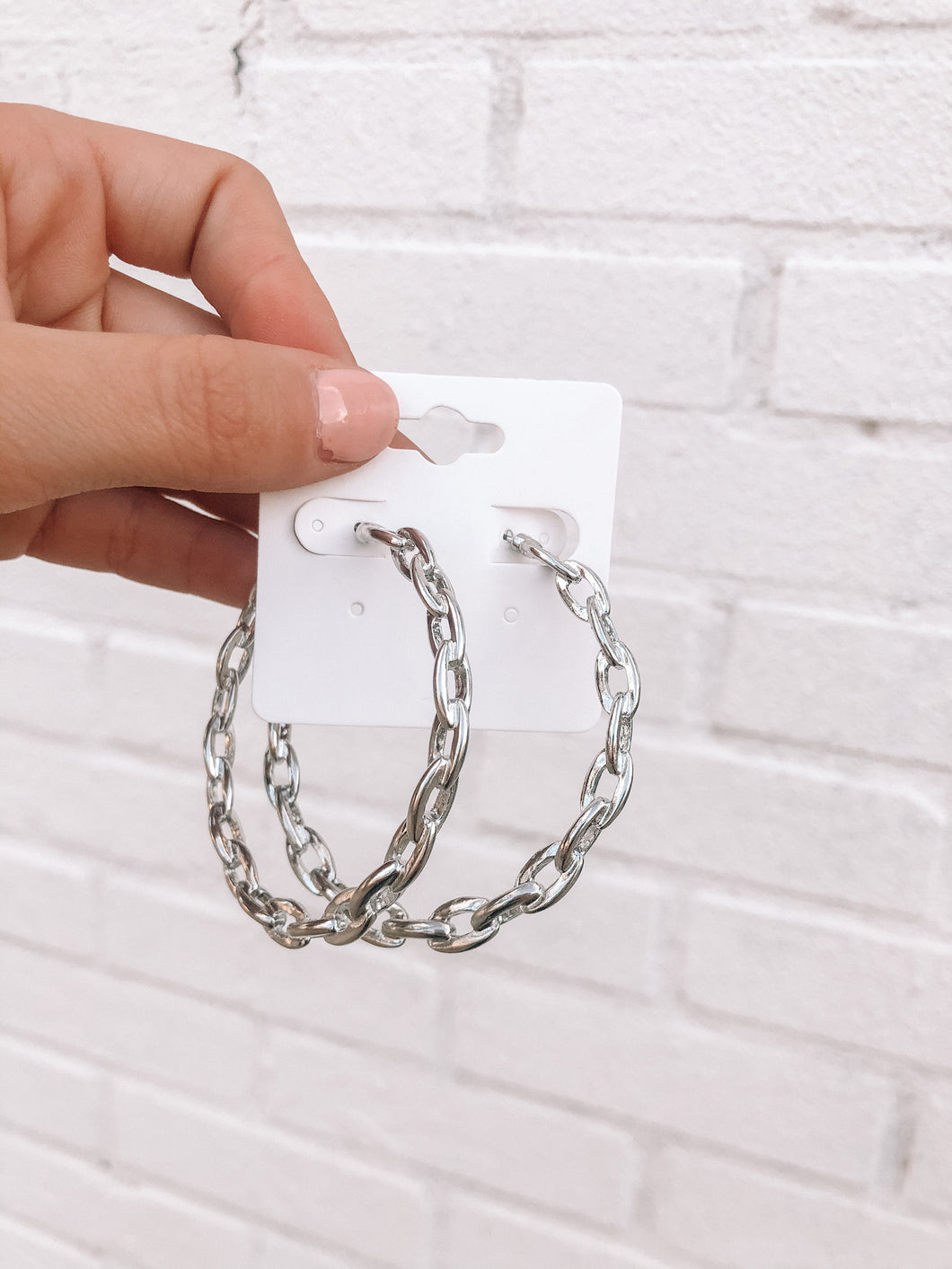 Chain Hoops, Silver