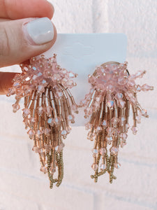 All The Glitz Earrings, Blush