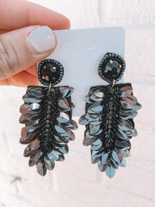 Saturday Night Earrings, Black
