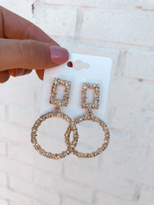 Eden Earrings, Gold