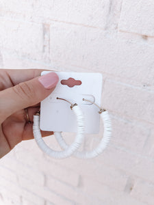 Forever Young Earrings, White