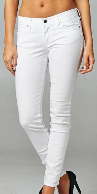 White Ankle Skinnies