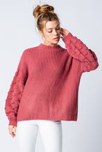 Load image into Gallery viewer, Be Yours Chunky Sweater, Rasberry