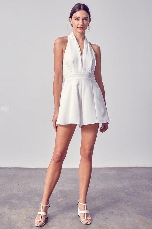 Watch Me Go By Romper, Ivory