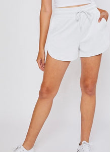 Hitting It Off Shorts, White