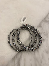 Load image into Gallery viewer, Sparkle & Shine Bracelet Stack, Silver