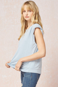 Frankie Muscle Tee, Ice Blue