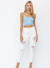 Load image into Gallery viewer, Know Your Luck Distressed Jeans, White