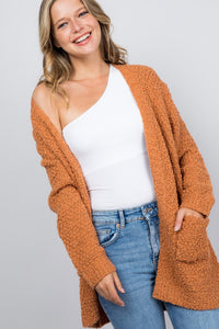 Let You In Cardigan, Burnt Orange