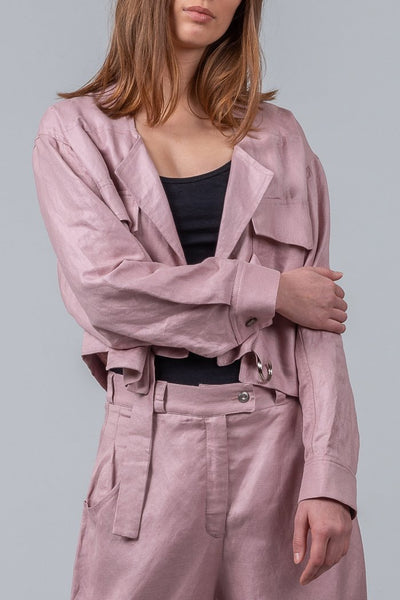 Mild Red Staycation Jacket - Blush