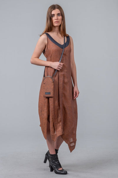 Mild Red Keystone Dress - Bronze