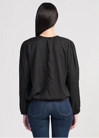 Untouched World Althea Shirt - Black