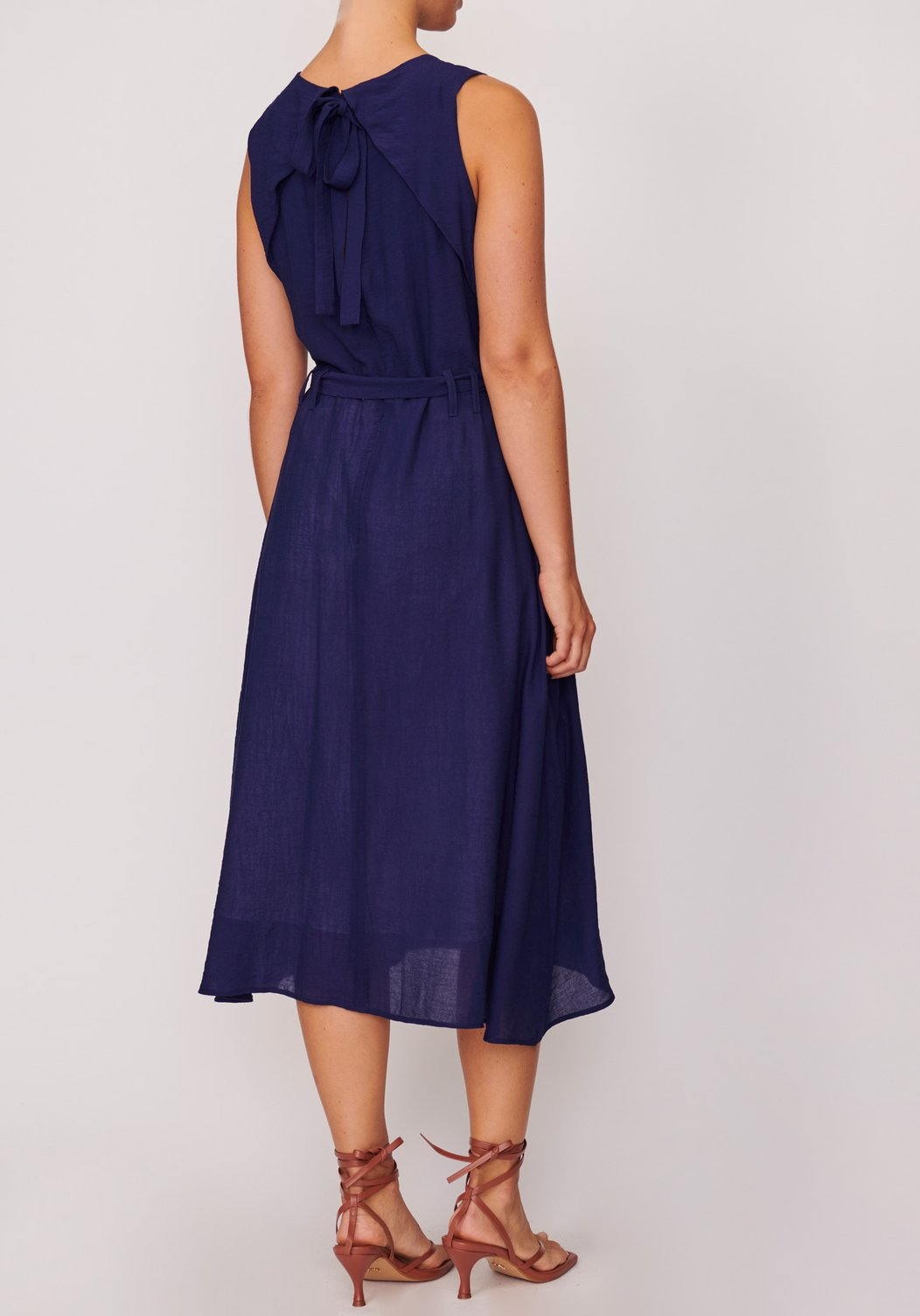 Pol Muse Origami Dress - Navy