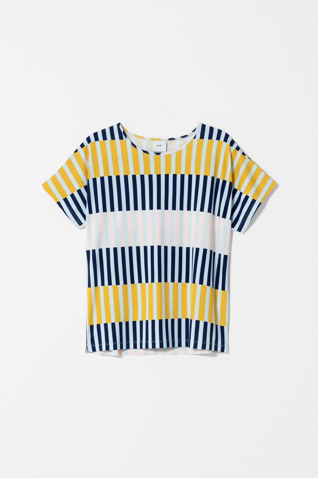 Elk Valby Stripe Top - Navy Stripe Mix