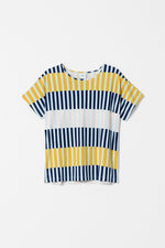 Load image into Gallery viewer, Elk Valby Stripe Top - Navy Stripe Mix