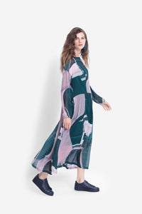 Elk Catja Sheer Print Dress - Iris Swirl