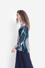 Load image into Gallery viewer, Elk Catja Sheer Print Top - Iris Swirl
