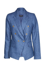 Load image into Gallery viewer, Cable Roxy Linen Blazer - Blue