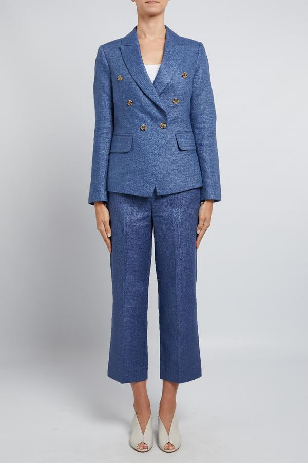 Cable Roxy Linen Blazer - Blue