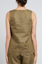 Load image into Gallery viewer, Cable Maisy Linen Top - Khaki