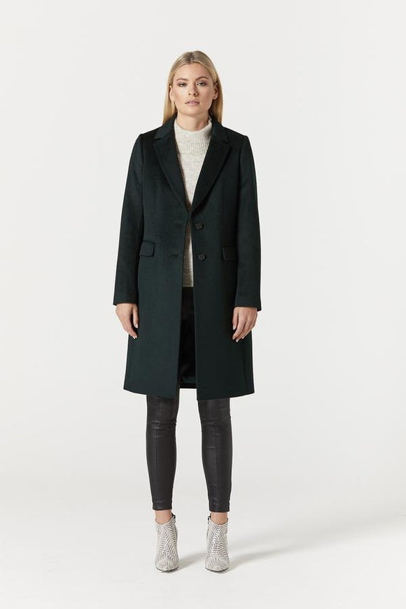 Cable Melbourne Harrison Wool Coat - Forest
