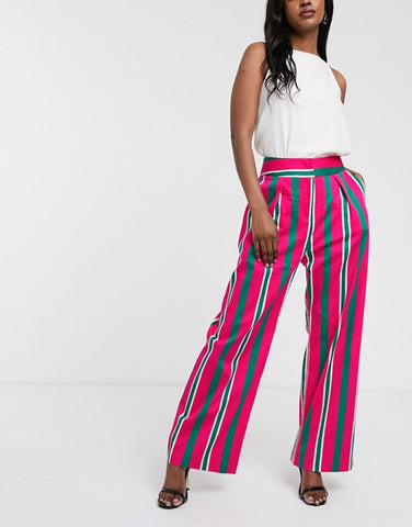 Closet London Wide Leg Pleated Trousers - Pink